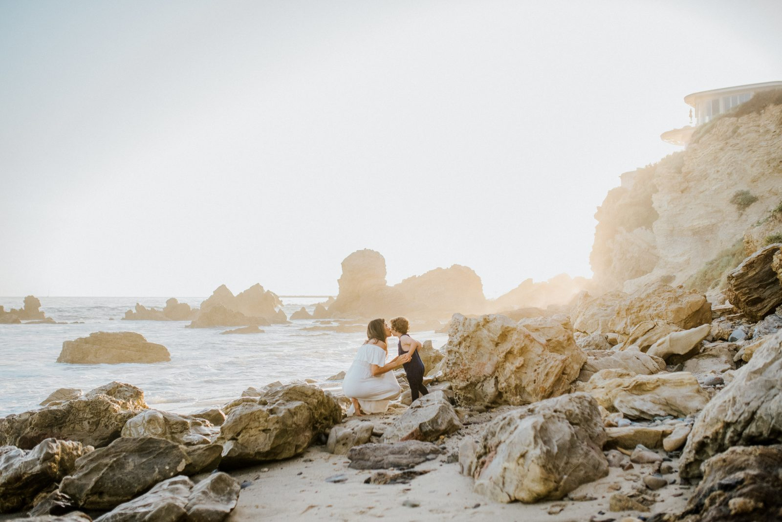 Beach Exploring | Orange County Family Photographer