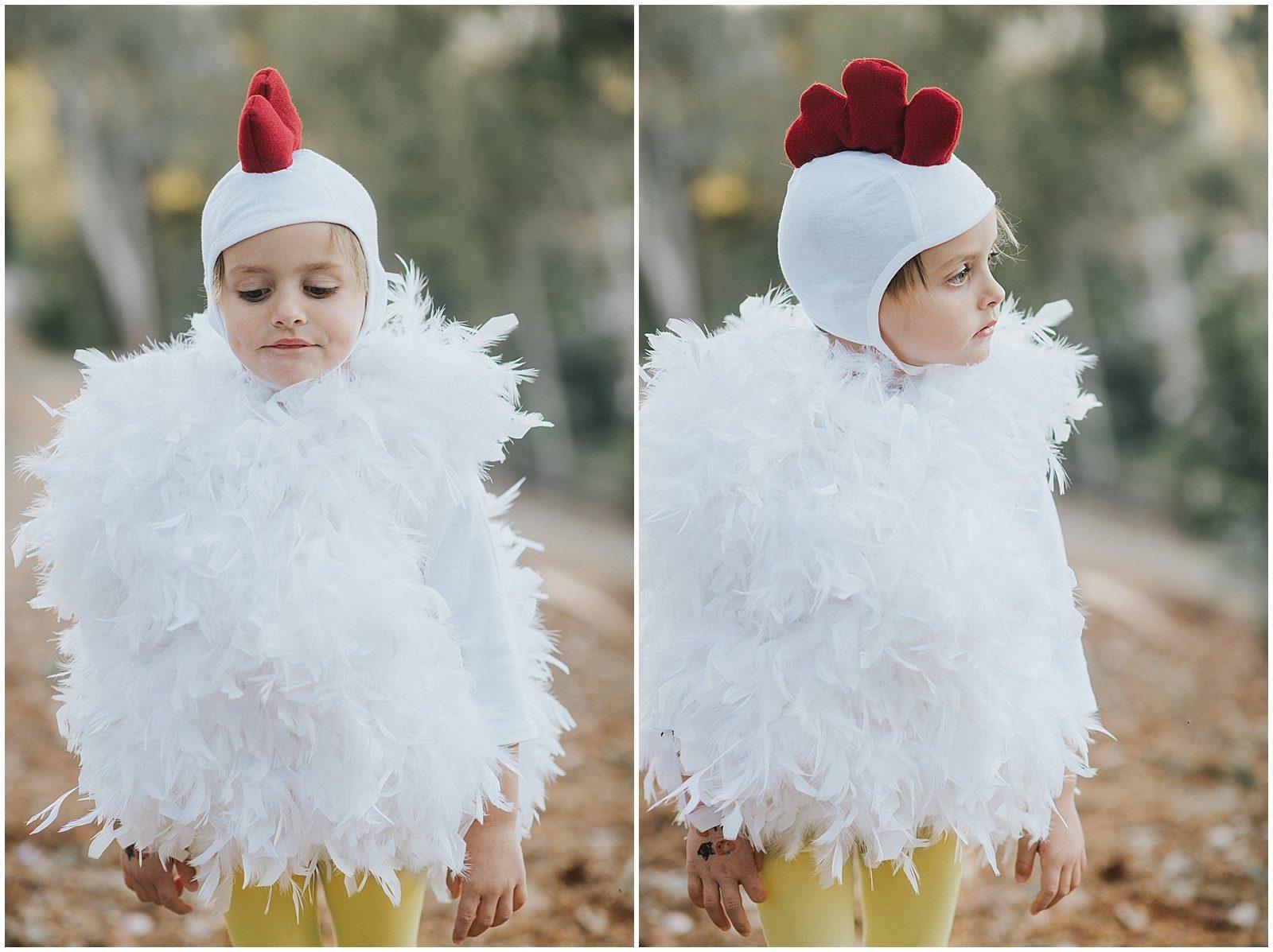 Orange County Family Photographer Handmade Chicken Costume 0249