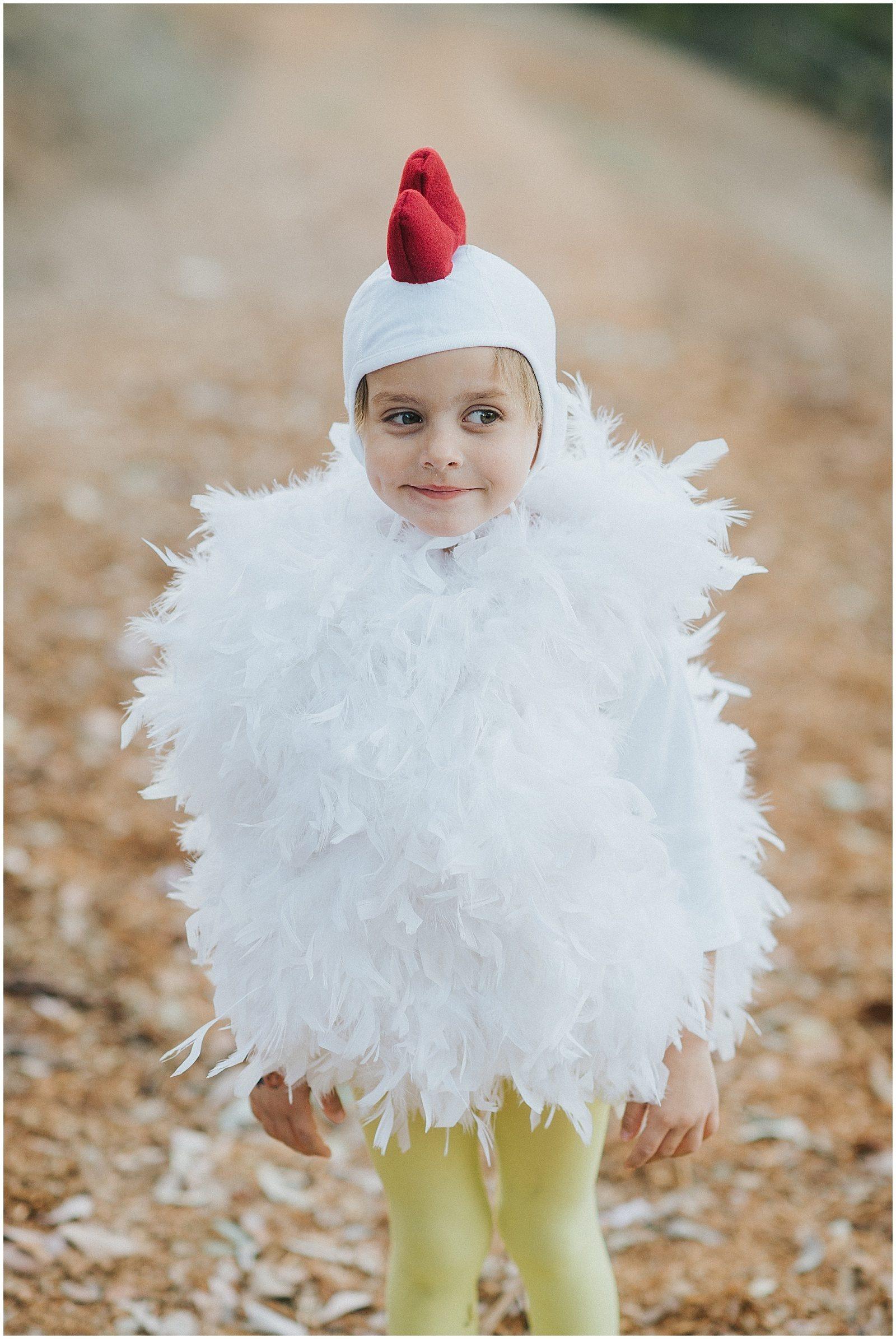Orange County Family Photographer Handmade Chicken Costume 0250