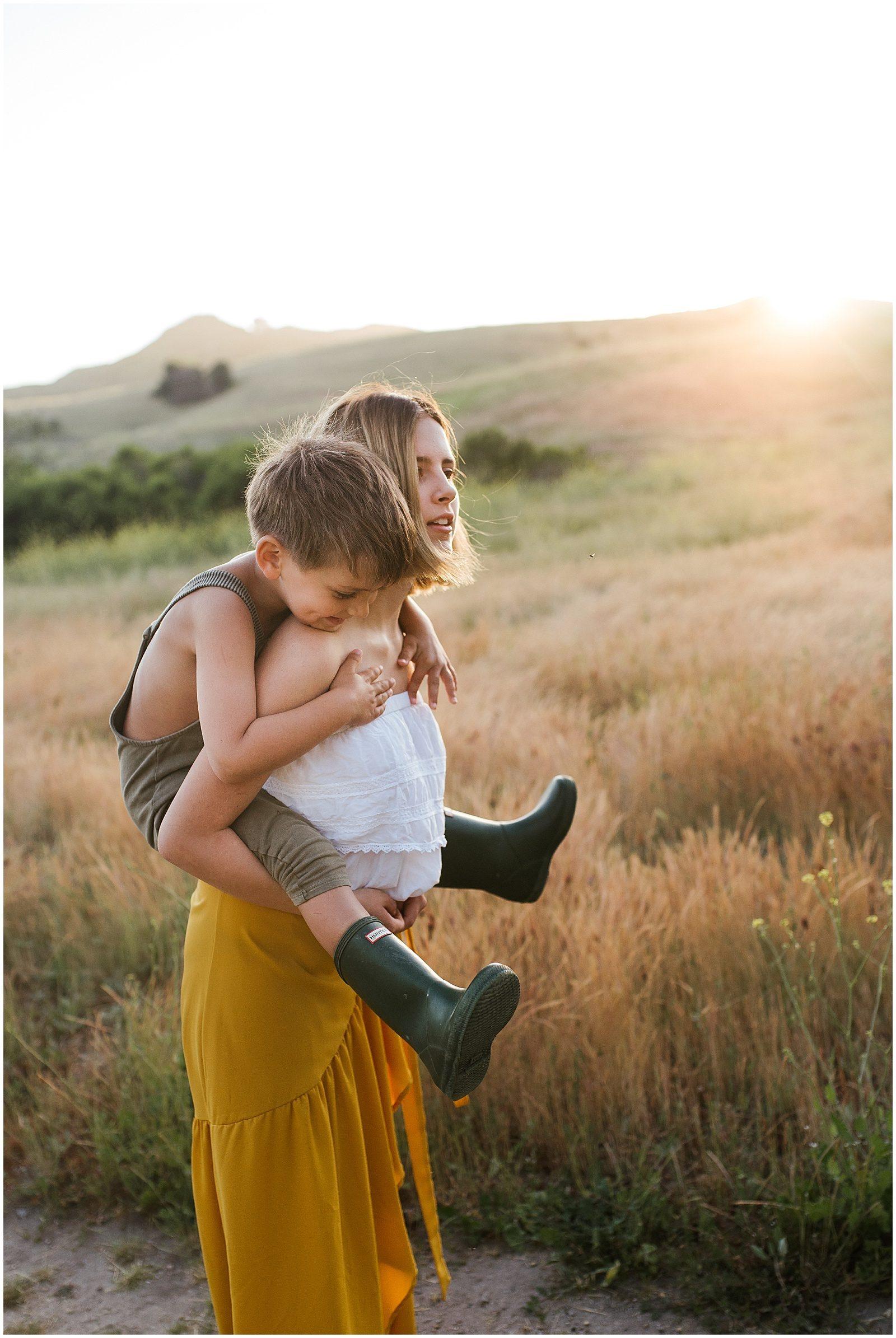 Hunting for Ladybugs | Orange County Family Photographer